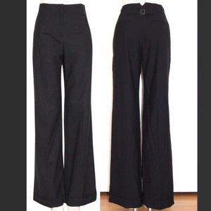THEORY Alva High Waisted Wide Leg Pants Black 00